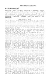 MINISTERO DELLA SALUTE DECRETO 18 ottobre 2006
