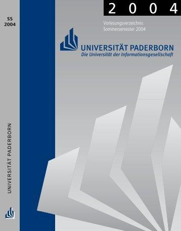 Vorlesungsverzeichnis Sommersemester 2004 - Institut für ...