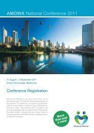 AMOWA National Conference 2011