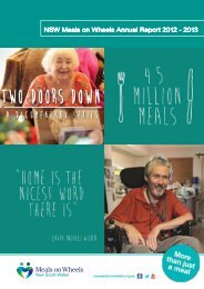 NSW Meals on Wheels Annual Report 2012 - 2013