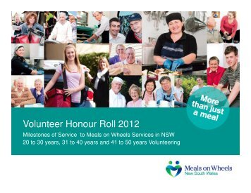 Volunteer Honour Roll 2012