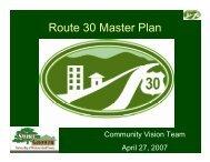 Route 30 Master Plan