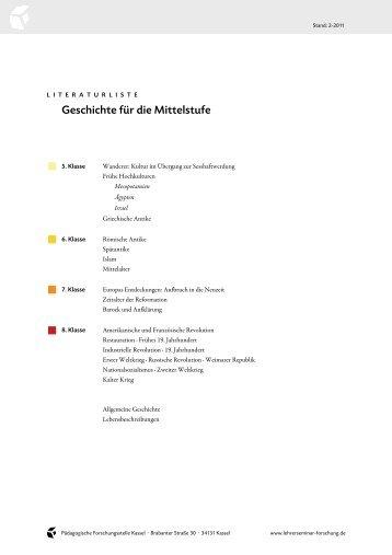 Geschichte für die Mittelstufe - Lehrerseminar für Waldorfpädagogik ...