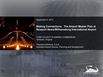Making Connections: The Airport Master Plan at ... - York County