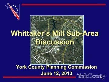 Whittaker's Sub-Area