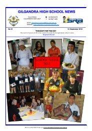 GILGANDRA HIGH SCHOOL NEWS NAIDOC WEEK 2012
