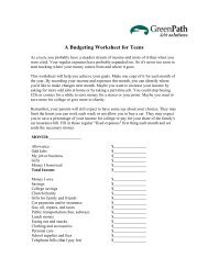 A Budgeting Worksheet for Teens