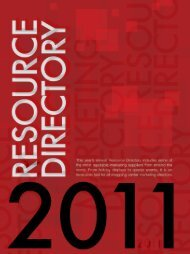 Resource Directory - Shopping Center Weekly