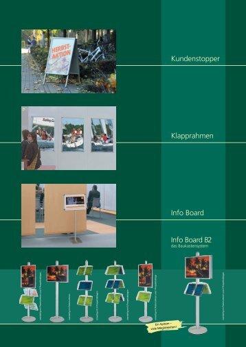 Kundenstopper Klapprahmen Info Board Info Board B2