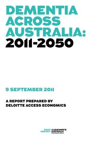 DEMENTIA ACROSS AUSTRALIA 2011-2050