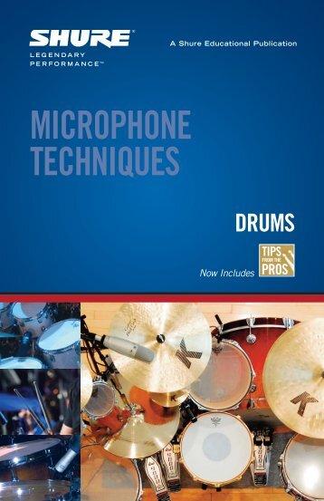MICROPHONE TECHNIQUES