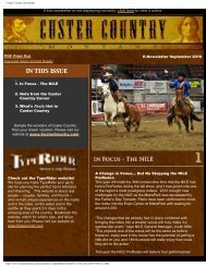 E-newsletter September 2010 - Southeast Montana