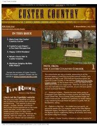 Quarterly E-newsletter July 2010 - Southeast Montana