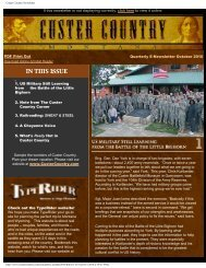 Quarterly E-newsletter October 2010 - Southeast Montana