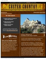 Custer Country Newsletter - Southeast Montana