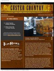 E-newsletter December 2010 - Southeast Montana