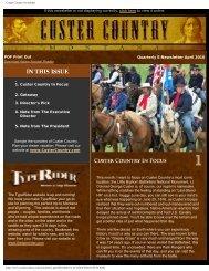 Quarterly E-newsletter April 2010 - Southeast Montana
