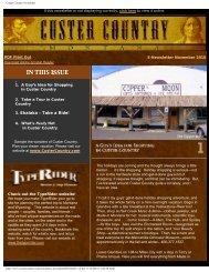 E-newsletter November 2010 - Southeast Montana