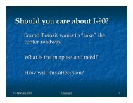 Should you care about I-90?
