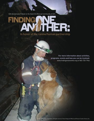 In honor of the canine/human partnership