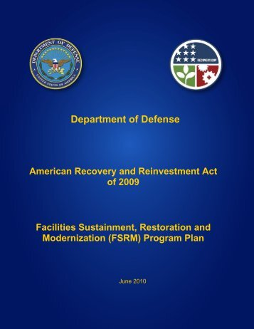 facilities sustainment, restoration, & modernization plan