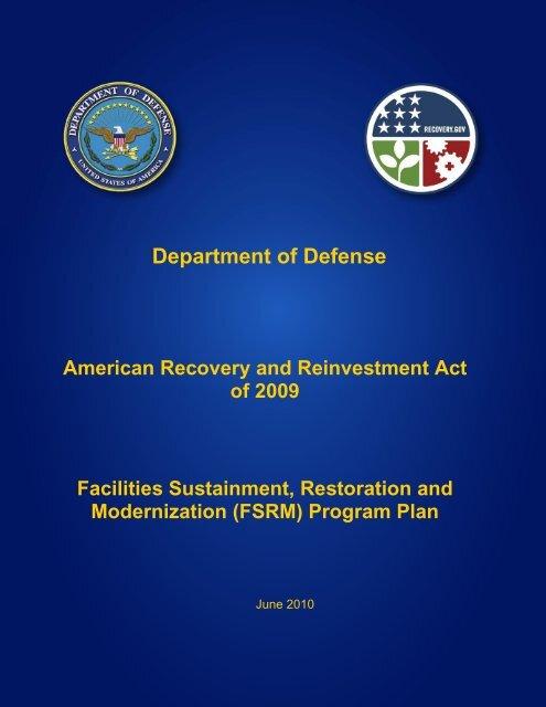 facilities sustainment, restoration, & modernization plan