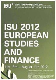 European Law - Thematik structure - Wiwi Uni-Frankfurt