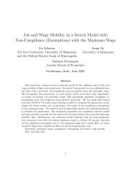 Job and Wage Mobility in a Search Model with Non-Compliance ...