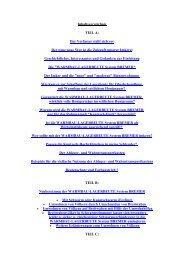 Inhaltsverzeichnis TEIL A: Der Verfasser stellt sich vor Der ganz ...