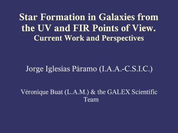 Star Formation in Galaxies from the UV and FIR Points of View
