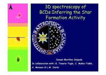 3D spectroscopy of BCDs:Inferring the Star Formation Activity