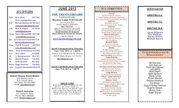 JUNE 2013 THE TRESTLEBOARD