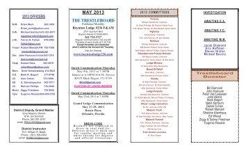 MAY 2013 THE TRESTLEBOARD