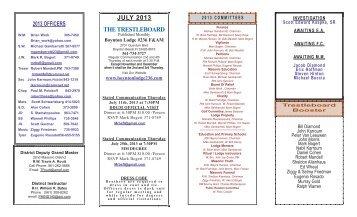JULY 2013 THE TRESTLEBOARD