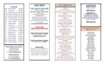 JULY 2012 THE TRESTLEBOARD