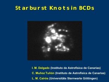 Starburst Knots in BCDs