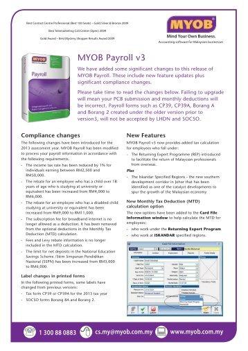 MYOB Payroll v3