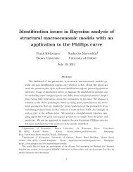 Identification issues in Bayesian  analysis of structural ...