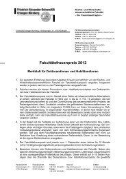 Fakultätsfrauenpreis 2012 - am Fachbereich ...