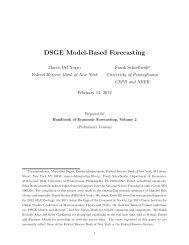 DSGE Model-Based Forecasting - Wiwi Uni-Frankfurt