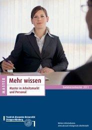 Mehr wissen Master in Arbeitsmarkt und Personal