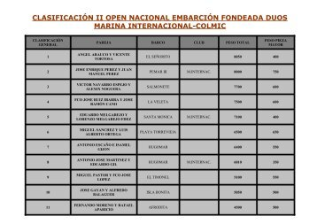 clasificación ii open nacional embarción fondeada duos marina ...