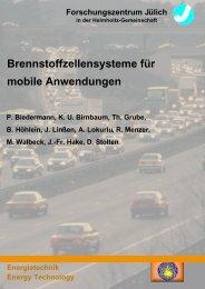 Brennstoffzellensysteme für mobile Anwendungen