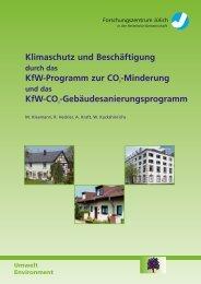 Klimaschutz und Beschäftigung KfW-Programm zur CO2 ... - JuSER