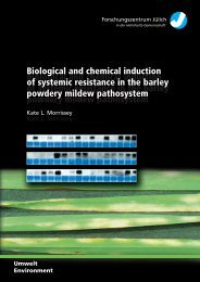 Biological and chemical induction of systemic resistance in ... - JuSER