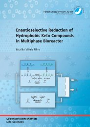 Enantioselective Reduction of Hydrophobic Keto ... - JuSER