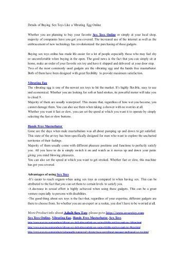 Details of Buying Sex Toys Like a Vibrating Egg Online-AV-0909