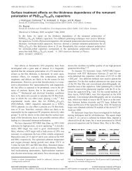 remanent polarization - JuSER - Forschungszentrum Jülich