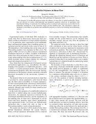 Semiflexible Polymers in Shear Flow - JuSER