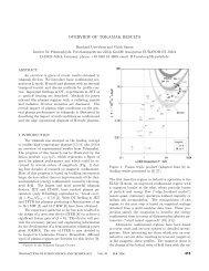 overview of tokamak results - JuSER - Forschungszentrum Jülich